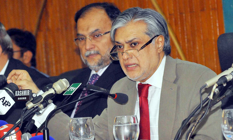 Finance Minister Ishaq Dar.—File Photo