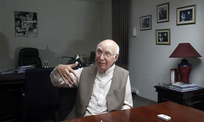 Premier's Special Advisor on Foreign Affairs Sartaj Aziz. — File Photo by Reuters