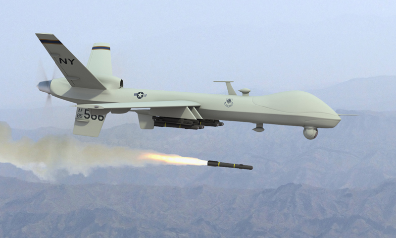 Sources told Dawn.com that the drone fired two missiles at a residential compound killing at least two persons.  — File Photo