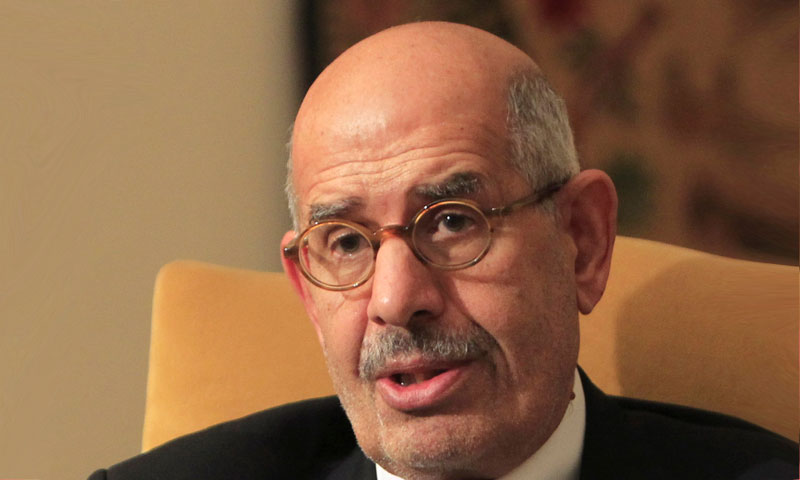 Egyptian opposition leader Mohamed ElBaradei.—Photo by Reuters