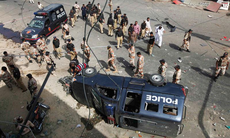 essay on bomb blast in karachi