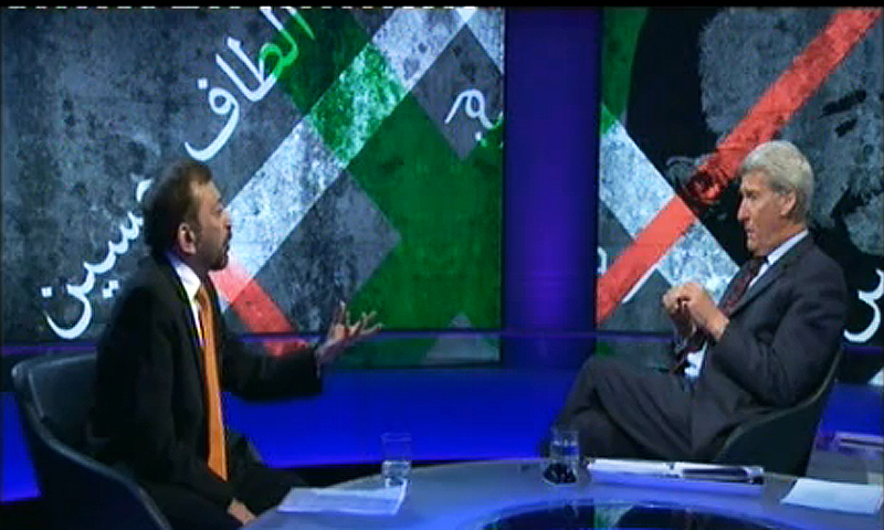 — Video grab from the programme 'Newsnight'.
