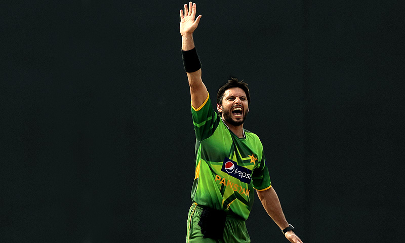 Afridi recorded the second-best ever bowling figures in ODI cricket. -Photo by AP