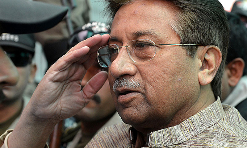 The Islamabad High Court (IHC) had granted post-arrest bail to retired General Pervez Musharraf in the case relating to detention of judges after the proclamation of emergency on Nov 3, 2007.—File Photo