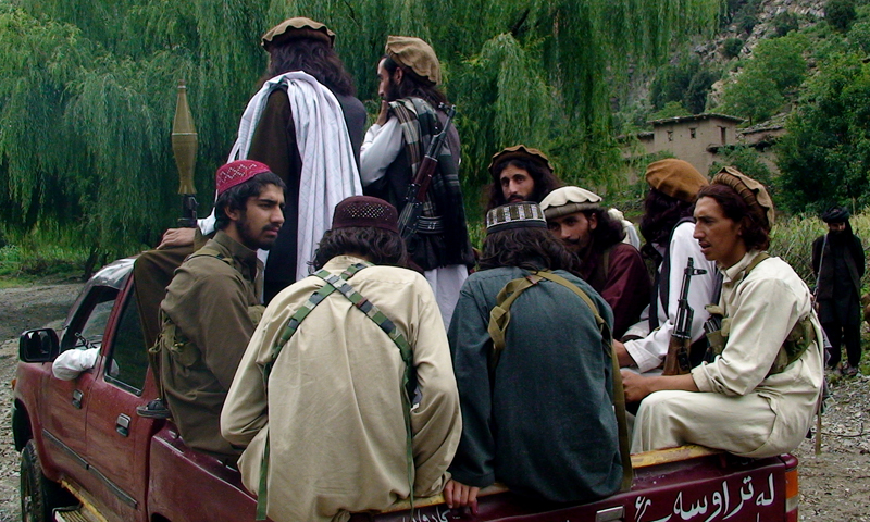 In this file photo taken on Sunday, Aug. 5, 2012, Pakistani Taliban patrol in their stronghold of Shawal in Pakistani tribal region of South Waziristan. Dozens of domestic and foreign militants have left Pakistan for Syria in recent months. — AP photo.