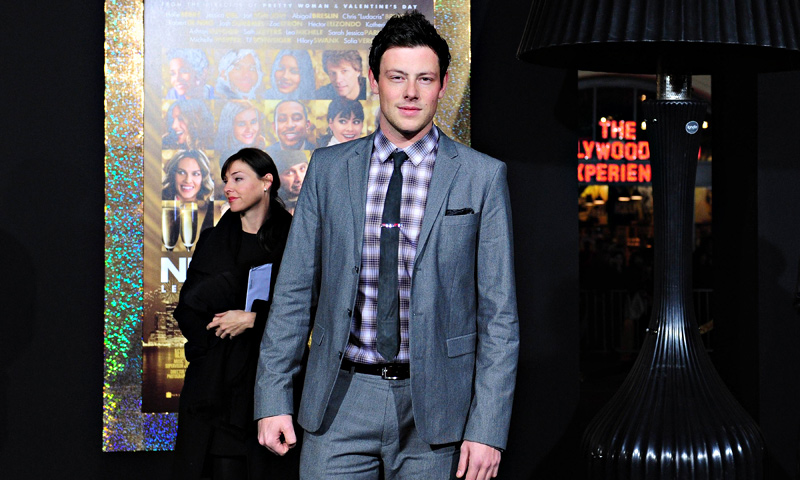 Actor Corey Monteith on arrival for the film premiere of 'New Year's Eve' at Grauman's Chinese Theater in Hollywood in this December 5, 2011 file photo. — AFP Photo