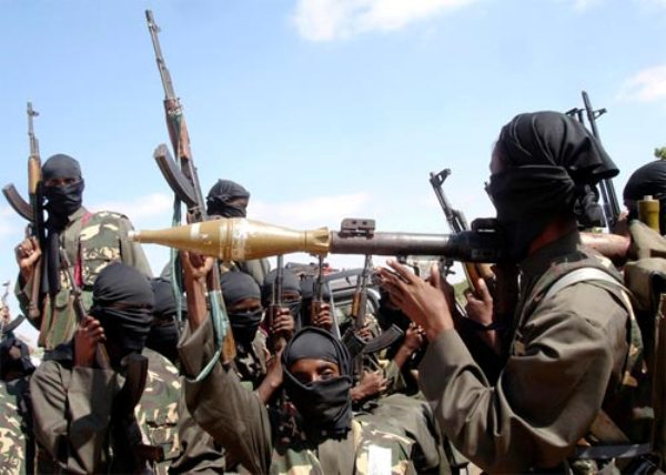 Armed members of Nigeria's Neo-Fundamentalist group, the Boko Haram.