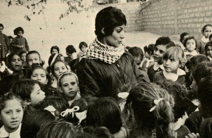 Famous PLO revolutionary and Islamic Socialist of the 1970s, Leila Khalid in Algeria (1972).