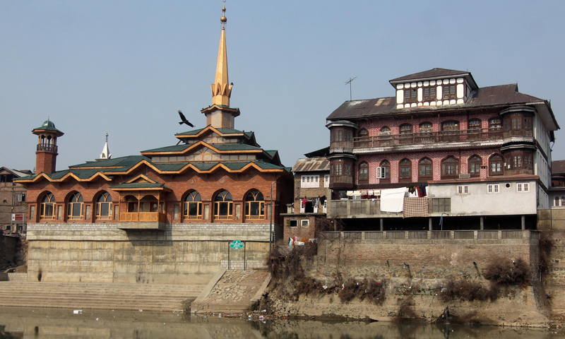 The shrine of Hazrat Syed Sharif-ud-Din Abdur Rehman, aka Bulbul Shah, the first Muslim Sufi saint from Central Asia to have arrived in Kashmir in 1324 AD, is located in downtown Srinagar. This shrine was recently renovated.Photo: Bee, Bilal.