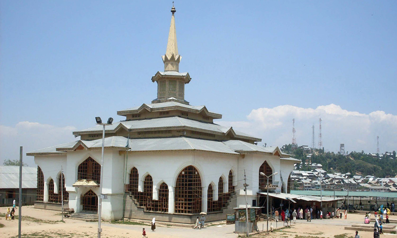 Shrine of Sheikh Noor-ud-Din Noorani in central Indian-administered Kashmir district Budgam. This shrine was gutted in 1995 when Indian security forces and militants exchanged fire. Photo: Bee, Bilal.