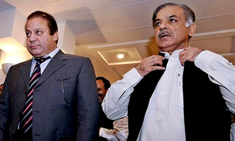 Prime Minister Nawaz Sharif and Chief Minister of Punjab, Shahbaz Sharif. — File Photo