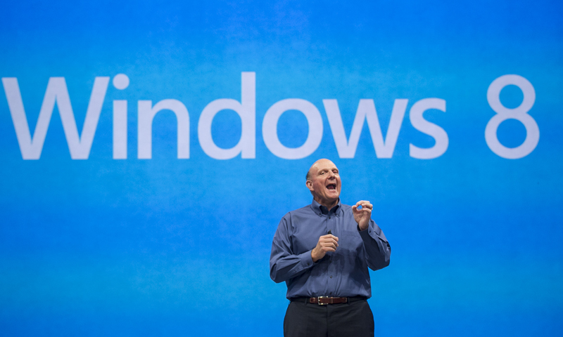 In this Monday, June 18, 2012, file photo, Microsoft CEO Steve Ballmer comments on the Windows 8 operating system before unveiling its new Surface, a tablet computer  to compete with Apple's iPad at Hollywood's Milk Studios in Los Angeles. — AP Photo