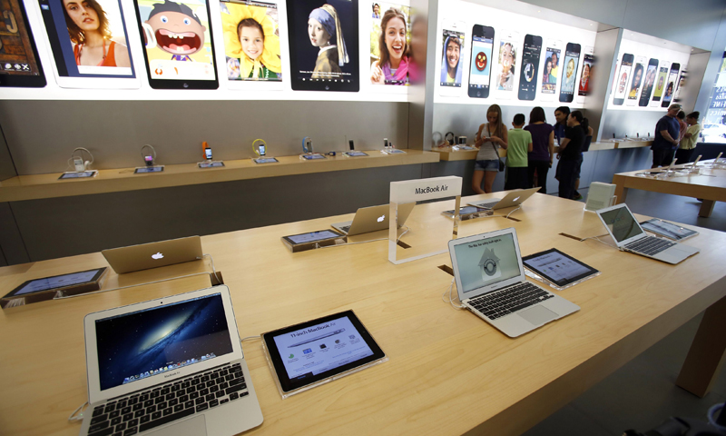 MacBook Air laptops are pictured on display at an Apple Store in Pasadena July 22, 2013. — Reuters Photo