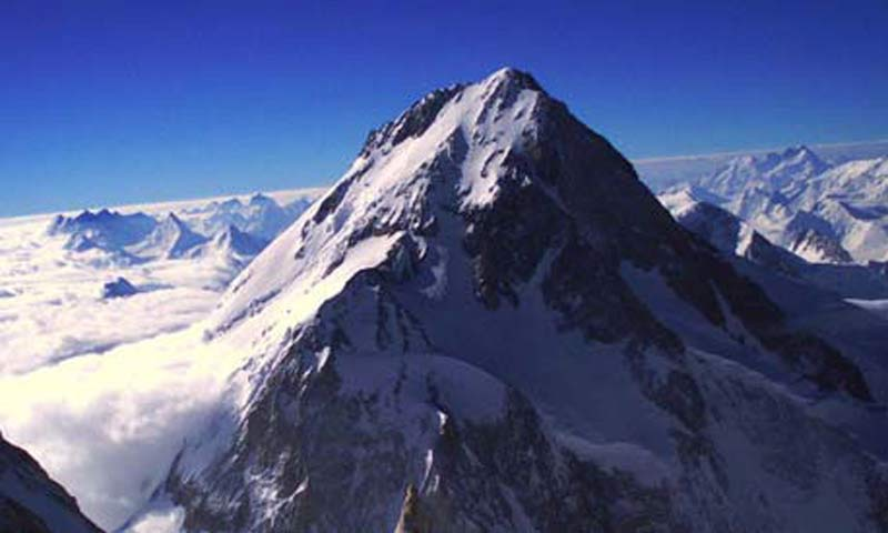 Gasherbrum I, also known as Hidden Peak, is the world's eleventh highest mountain.—File photo