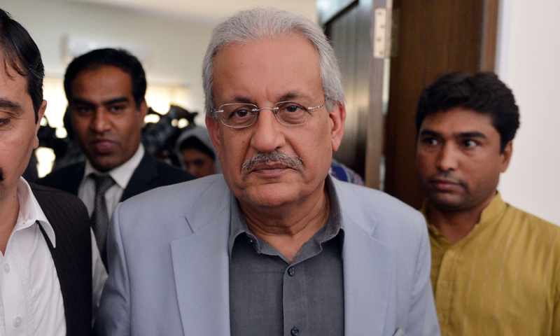 Pakistan People's Party (PPP) Senator Raza Rabbani.   — Photo by AFP