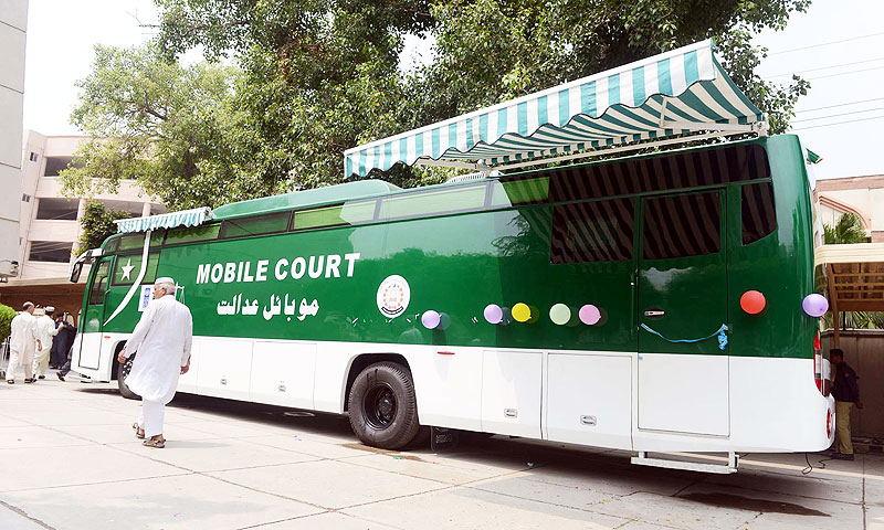 The mobile court will keep moving in different parts of KP to provide justice at the doorsteps of citizens. -Photo by PPI