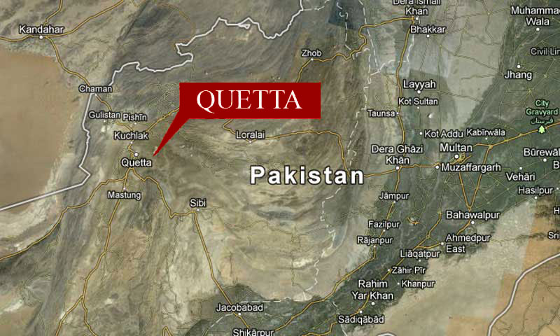Map shows the location of Quetta, the capital of militancy-hit Balochistan province.—Photo: Google Maps