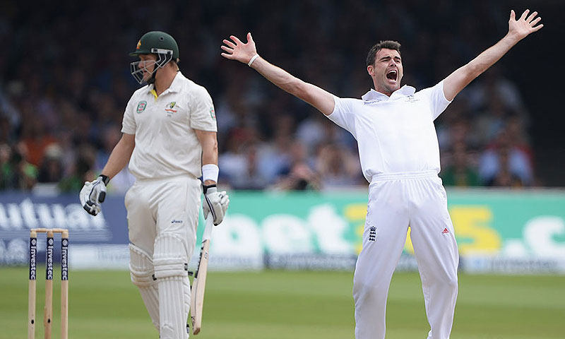 Anderson helped England grab a 2-0 lead in the ongoing Ashes by taking a total of 13 wickets in the two Tests. -File photo by AFP