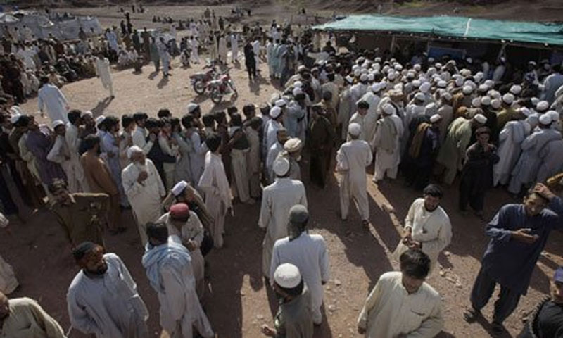 Thousands of families were forced to flee Bara, a large number of them living as internally displaced persons at the Jalozai refugee camp on the outskirts of Peshawar.—AP/File Photo