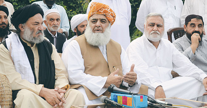 Jamiat Ulema-i-Islam (JUI-F) chief Maulana Fazlur Rehman. — File Photo