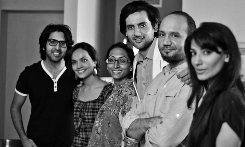 The cast with the director, Iram Parveen Bilal