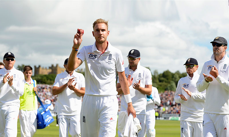 Broad, had the ninth five wicket-haul of his 61-Test career. -Photo by Reuters