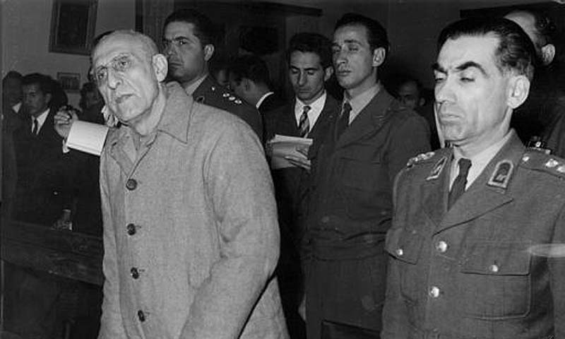 Former Iranian premier Mohammed Mossadegh after he was sentenced to three years solitary confinement by a military court in Tehran, December 21, 1953. — Photo AP/File