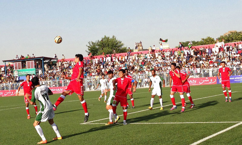 Afghanistan, ranked at 139th in the world just above Pakistan, gave home fans little to worry about. -Photo by AFP