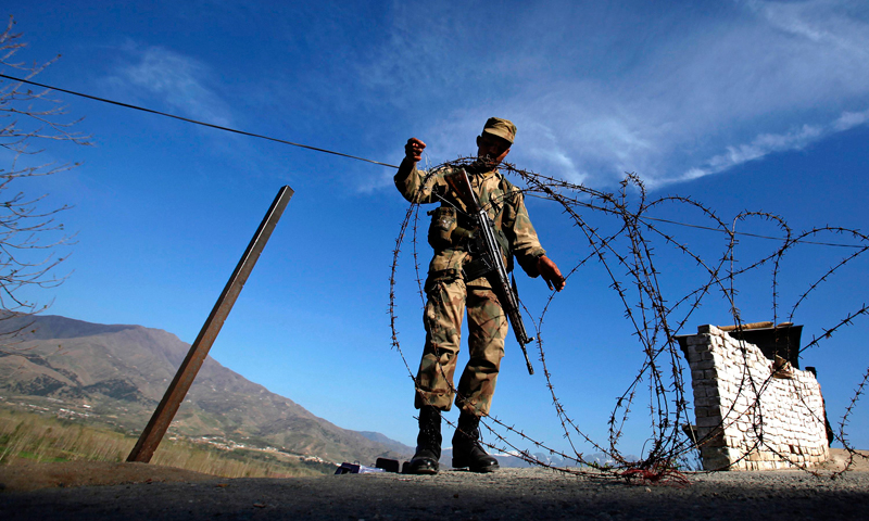 Recent weeks have seen an escalation in tensions between the two South Asian neighbours, with several soldiers killed on both sides of the border.—File photo