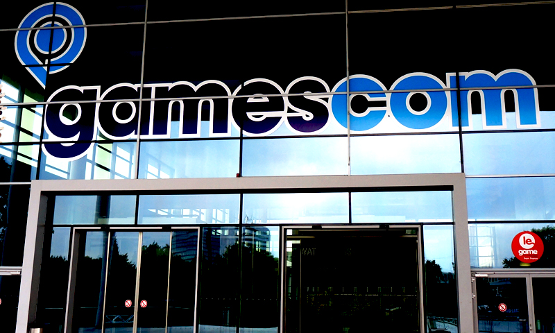This photograph taken on 20th August, 2013 in Cologne, Germany Shows the Gamescom 2013 Entrance. — Wajhi Jafri/Spider Magazine Photo