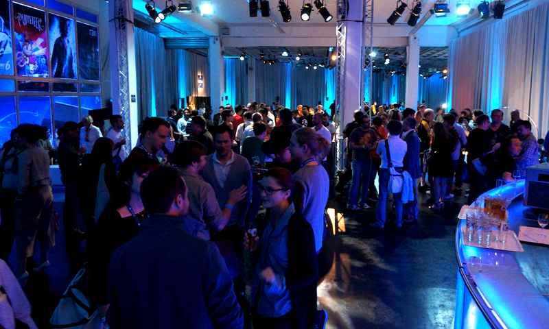 Attendees at Sony's Press event at Gamescom 2013 in Cologne, Germany. — Wajhi Jafri/Spider Magazine Photo