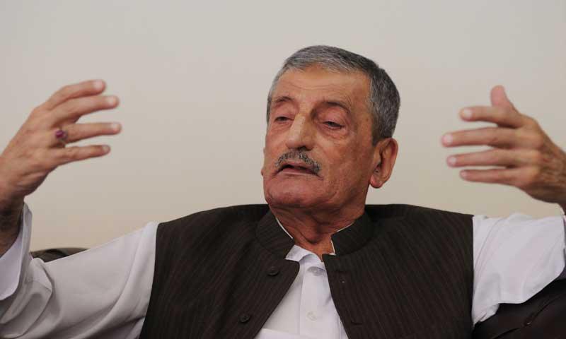 ANP leader Ghulam Bilour. — File photo/AFP