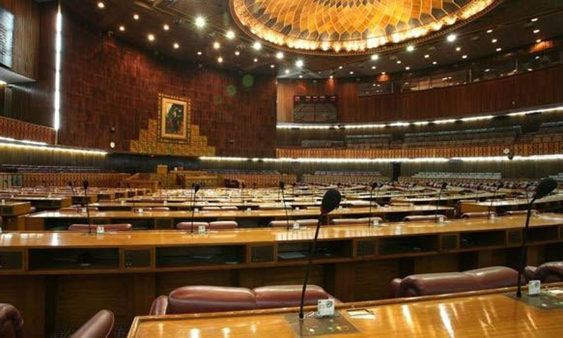 During the question hour of the National Assembly, it's only Sheikh Aftab who tries to fill in for his absent colleagues. -File photo