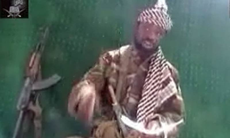 The picture shows Boko Haram leader, Abubakar Shekau -File Photo/AFP