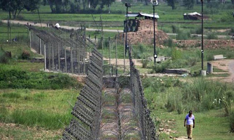 A view of the fenced border between India and Pakistan. — File Photo by Reuters