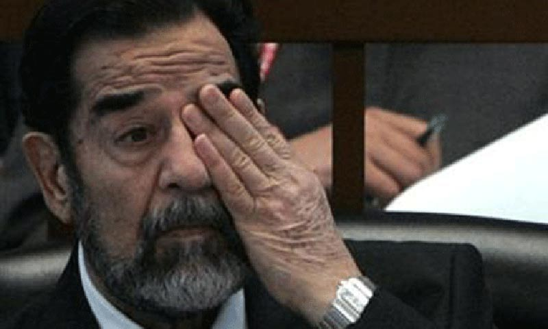 Foreign Policy magazine said the US knew in 1983 that Iraqi leader Saddam Hussein (pictured) would not hesitate to resort to shelling Iranian forces with sarin or mustard gas. -File Photo