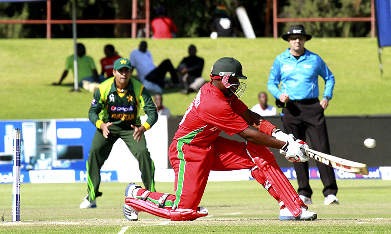Hamilton Masakadza scored 85 to inspire Zimbabwe to their first win against Pakistan since 1998. -Photo by AFP