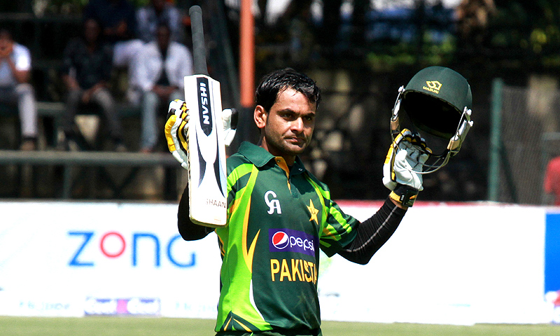 Hafeez's 136 off 130 balls included nine four and five sixes. -Photo by AP
