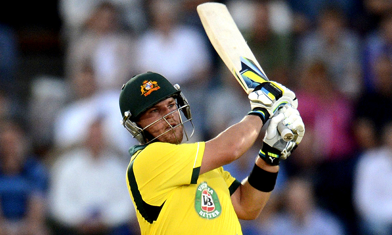 Finch's 14 sixes were also a world record for an individual T20 international innings. -Photo by Reuters