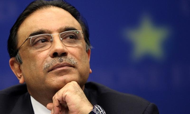 A three-judge SC bench was hearing a petition barring President Zardari to leave the country after completion of his tenure. – File Photo