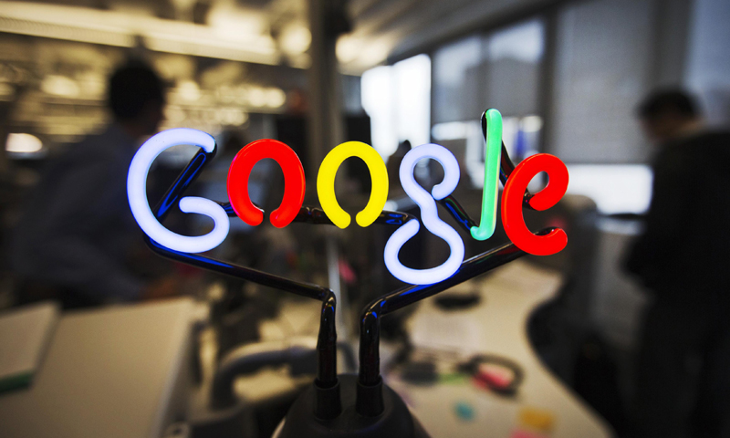 A neon Google logo is seen at the new Google office in Toronto, November 13, 2012. — Reuters Photo