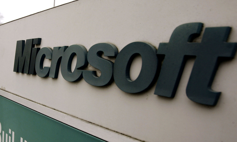 This Jan. 22, 2009 file photo shows the Microsoft sign outside the headquarters campus in Redmond, Washington. — AP Photo
