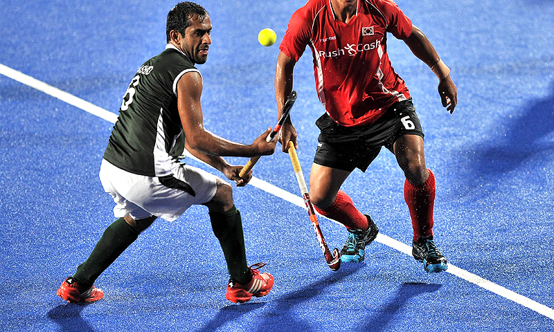 Three-time Olympic gold medallists, Pakistan have suffered a serious slump in field hockey. Their only triumph since 1994 was the Asian Games title in 2010. -Photo by AFP