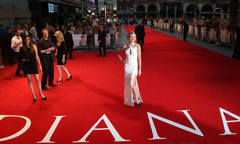 Naomi Watts arrives for the World Premiere of Diana at a central London cinema, Thursday, Sept 5, 2013. — Photo by AP