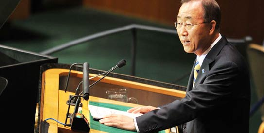 United Nations Chief, Ban Ki-moon - File Photo