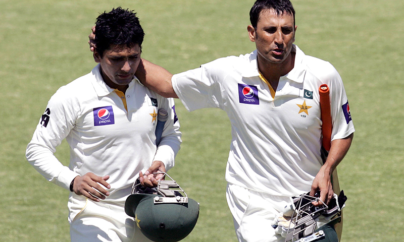 Younis hit 15 fours and three late sixes in his double hundred, and shared century partnerships with Misbah and Adnan Akmal (64) to lift Pakistan out of trouble -Photo by AFP