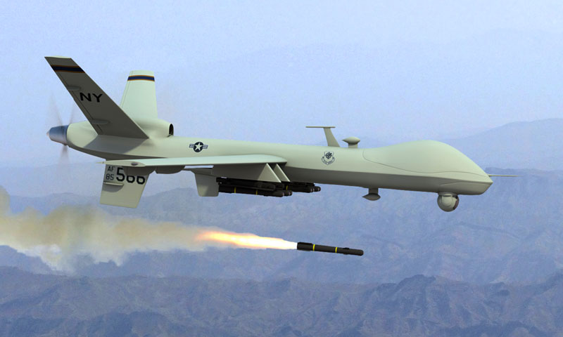 There have been 18 drones strike inside Pakistan so far this year killing just over 100 people, according to an AFP tally.—File Photo