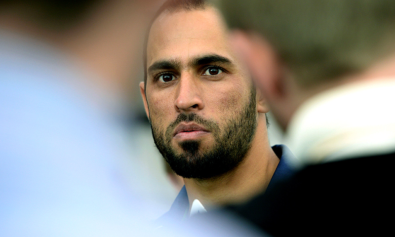 Fawad Ahmed. -Photo by AFP