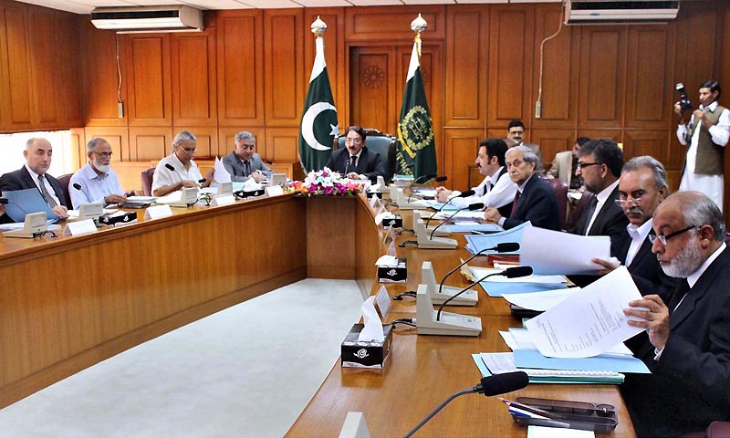 Chief Justice of Pakistan Justice Iftikhar Muhammad Chaudhry chairing the meeting of Judicial Commission of Pakistan in Supreme Court. — Photo by APP