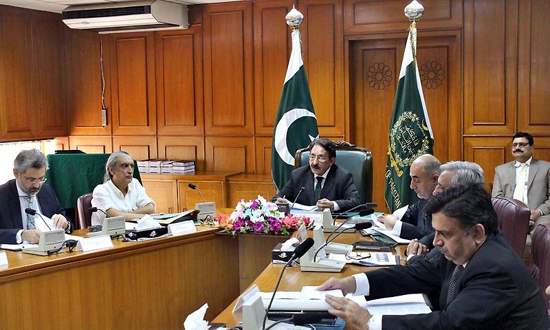 Chief Justice of Pakistan Justice Iftikhar Muhammad Chaudhry chairing the meeting of National Judicial Policy Making Committee Meeting in Supreme Court. — Photo by APP